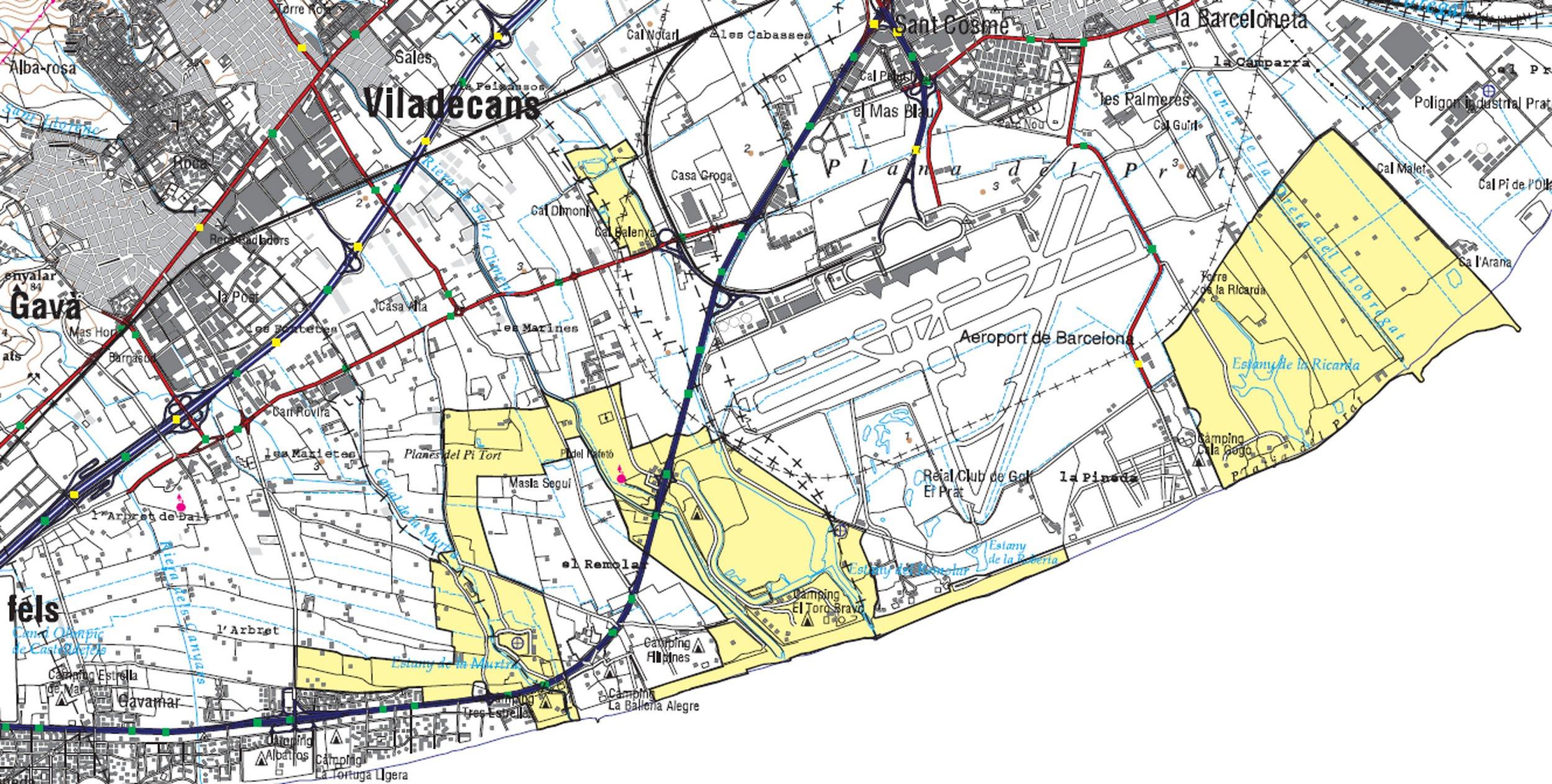 Delta Del Llobregat Mapa al Delta Del Llobregat