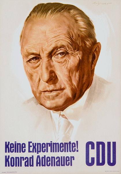 Cartell electoral de la CDU el 1957.