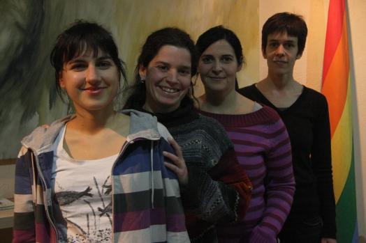 Algunes de les activistes de LesCat.